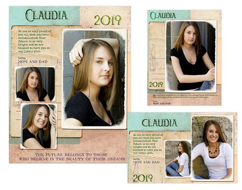 Seniors Ads Yearbook Templates Claudia 14 99 Arc4studio Photoshop Templates For Adobe Photoshop Yearbook Template