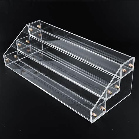 Display Acrylik Kosmetik 3 tier acrylic display stand large rack organizer nail