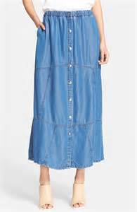 the kooples front button chambray midi skirt nordstrom