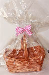 How To Wrap A Gift Basket With Cellophane - clear plastic cellophane basket gift wrap bag by luxepartysupply