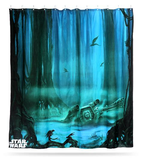 Star Wars Dagobah Shower Curtain Thinkgeek