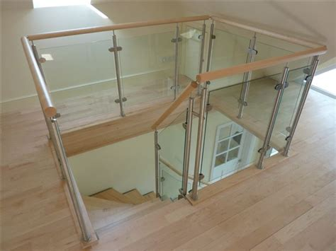wood and glass banister creative glass concepts balustrades