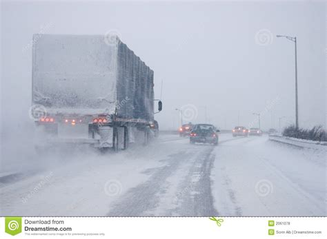driving in conditions whiteout driving conditions royalty free stock photos