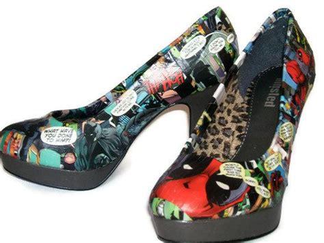 deadpool vs batman grey high heels comic book high