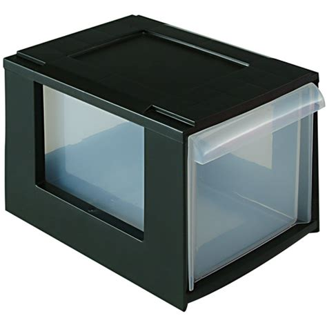 stackable storage boxes with drawers stacking cd media storage drawers in media storage boxes