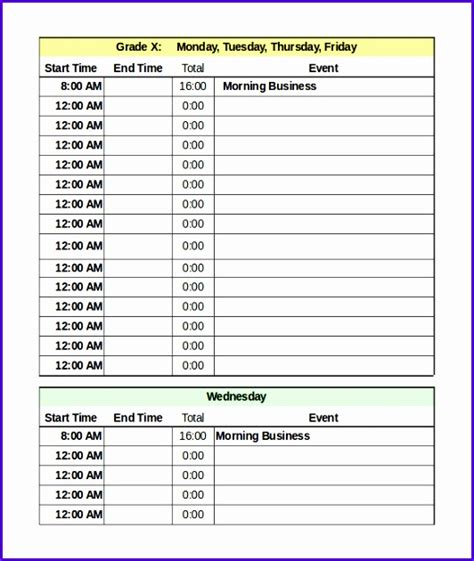 daily rota template 6 rota template excel exceltemplates exceltemplates