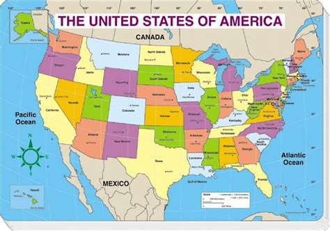 map of the united states 8 5 x 11 united states of america map labeled pictures to pin on
