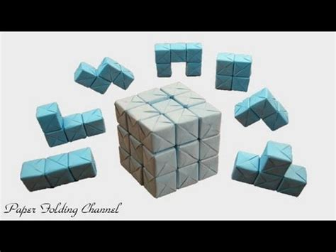 3d origami cube origami puzzle 3x3x3 3d cube