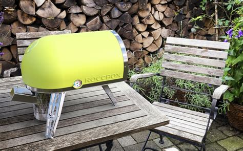 roccbox portable oven cooks a pizza in 90 seconds roccbox mailbox shaped oven evenly cooks pizza in 90