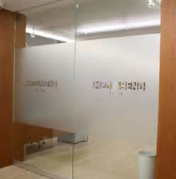 Office Signs For Glass Doors Axiom Signs Nyc Mediabend Capital Office Glass Wall And Door Etchinging In Dusted Vinyl