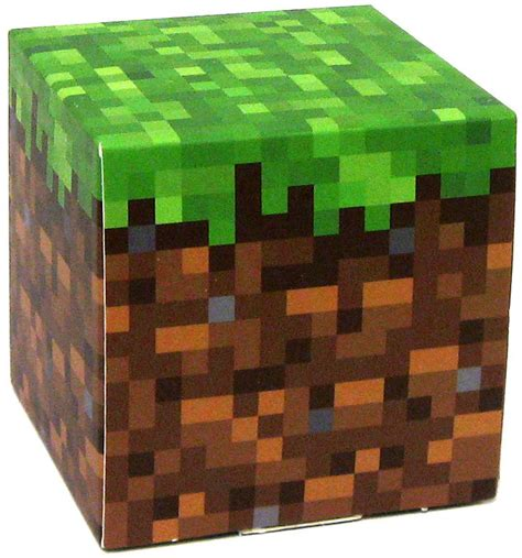 Minecraft Papercraft Grass - minecraft grass block papercraft single jazwares