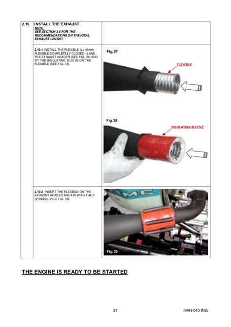Manual Go Kart Parilla Engine X30 Eng
