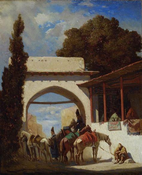 pasini mobili pasini alberto paesaggio orientale con figure 1856