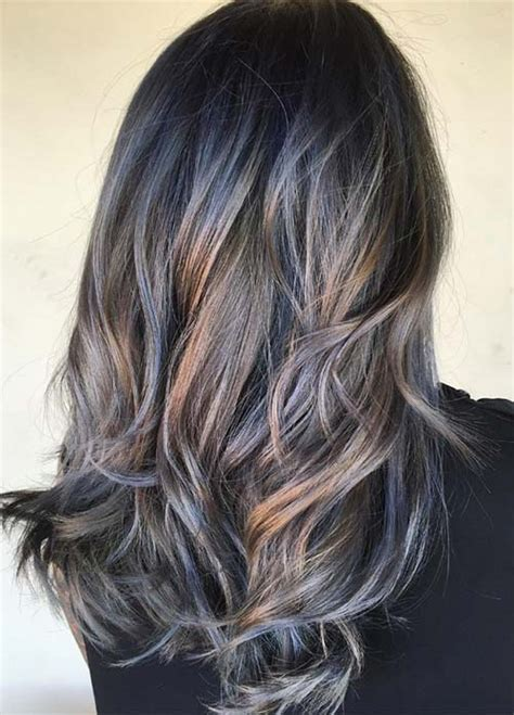can low lites be used with grey hair 50 magically blue denim hair colors you will love
