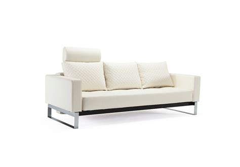 full sofa bed cassius quilt sofa bed full size white leather textile