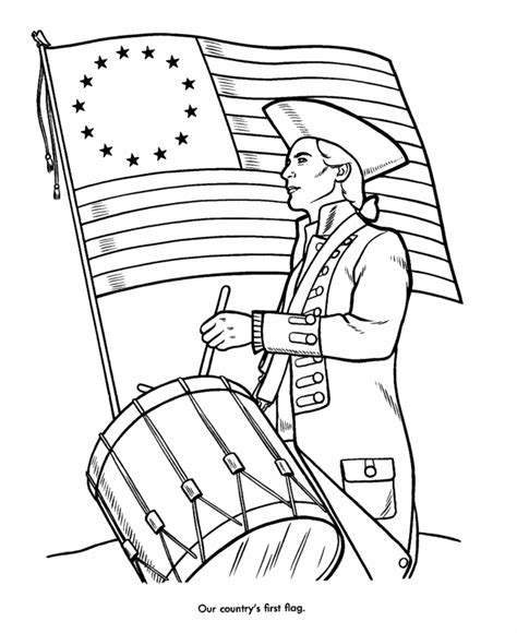 13 colonies flag coloring page az coloring pages