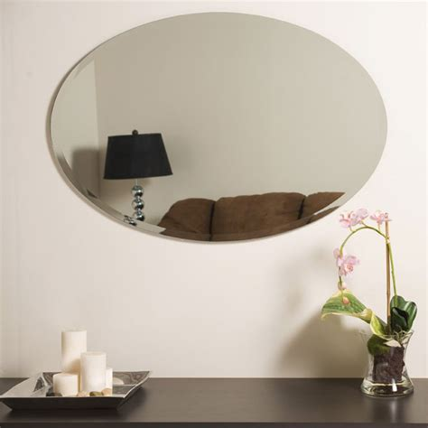 oval frameless bathroom mirror large oval frameless bathroom mirror dcg stores