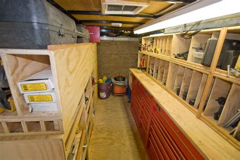 cargo trailer shelves vehicles contractor talk