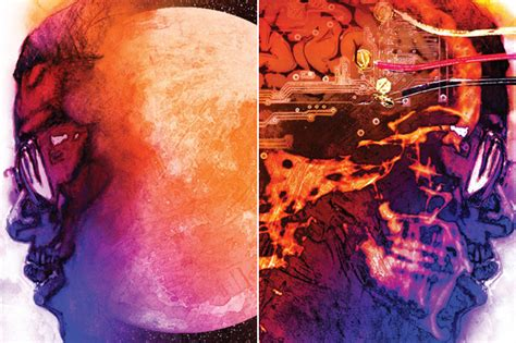 kid cudi s man on kid cudi on the moon the end of day album cover