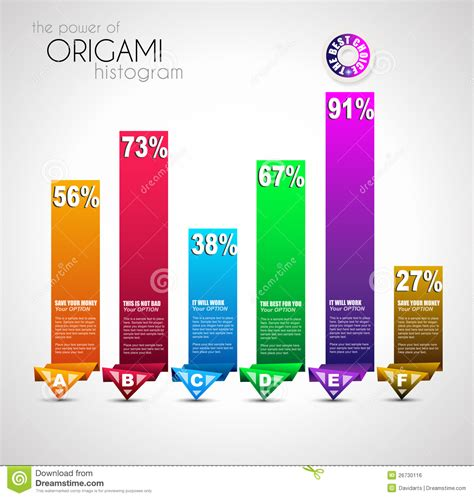 Origami Style - origami style ranking paper royalty free stock image