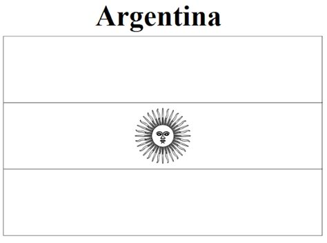coloring pages of latin american flags geography blog argentina flag coloring page