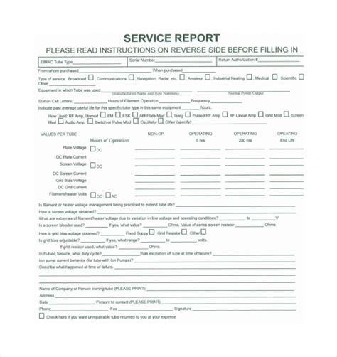 customer service report template sle service report 10 documents in pdf word