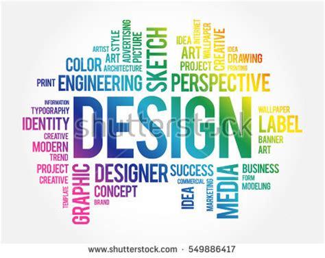 word grafik layout design word cloud collage creative business stock vector