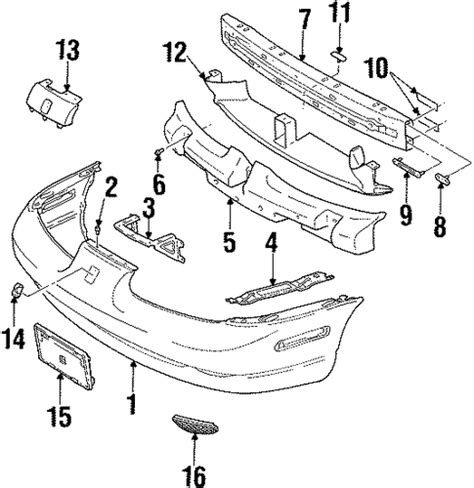 2001 saturn sl1 parts oem bumper components front for 2001 saturn sl1