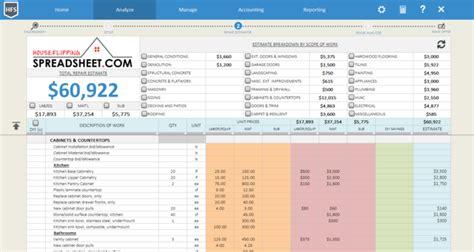 Spreadsheet House Flip Mba by House Flipping Spreadsheet
