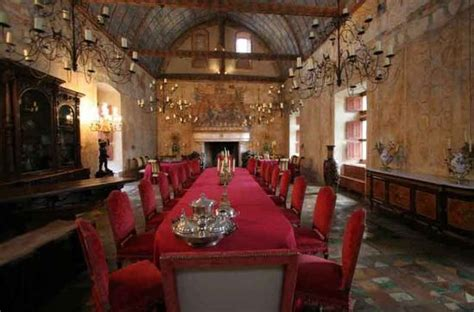 Castle Dining Room by Dinner In A Medieval Castle In France
