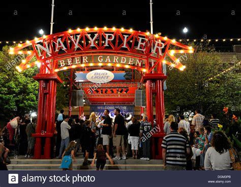 theme park united states night shot gateway to the navy pier amusement park