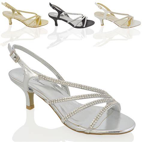 Sandal Wedges Flat Heel Casual Termurah Sendal Import Mylo Ms1122 womens diamante mid heel bridal prom evening wedding sandals size ebay