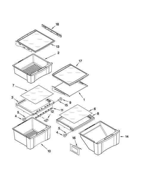 refrigerator parts whirlpool refrigerator parts diagram