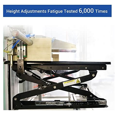 the wide height adjustable standing desk flexispot 35 quot wide platform height adjustable standing