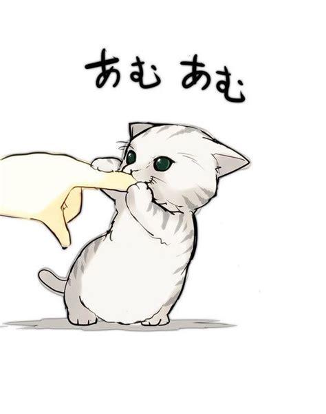 Anime Kitten by Aww Cat Kawaii Kitten Anime Cat Kawaii