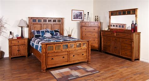 rustic bedroom suites sd 2322ro sedona rustic storage footboard panel bedroom