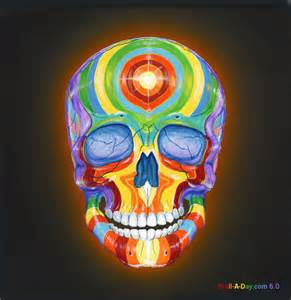 colorful skulls rainbow skull