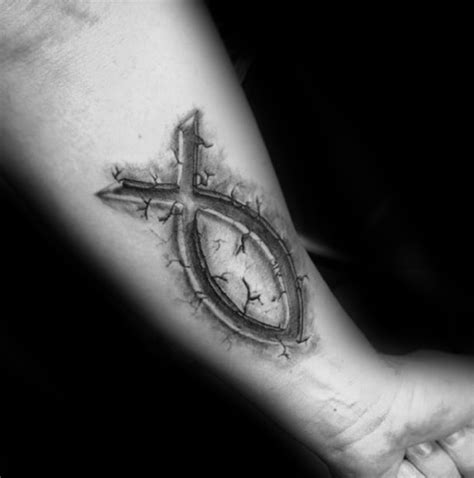 40 ichthus tattoo designs for men jesus fish ink ideas