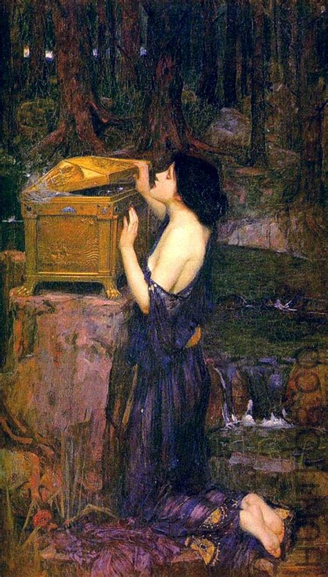 Arthur Wood Vase A Melange Et Moi 191 Pandoras Box John William Waterhouse