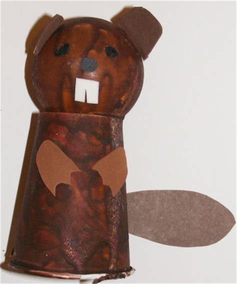 beaver crafts for kids ideas to make beavers with easy cup and ball beaver craft for kids