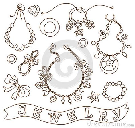 printable coloring pages jewelry collection of womens jewelry royalty free stock photos