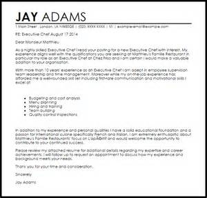 Chef Resume Cover Letter Executive Chef Cover Letter Sample Livecareer