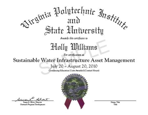 Mba Program Vt Tech by The Virginia Tech Sustainable Water Infrastructure
