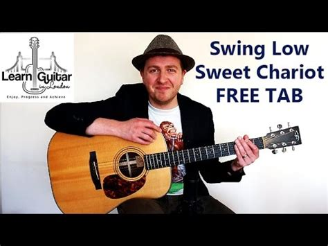swing low sweet chariot youtube swing low sweet chariot fingerstyle guitar lesson free