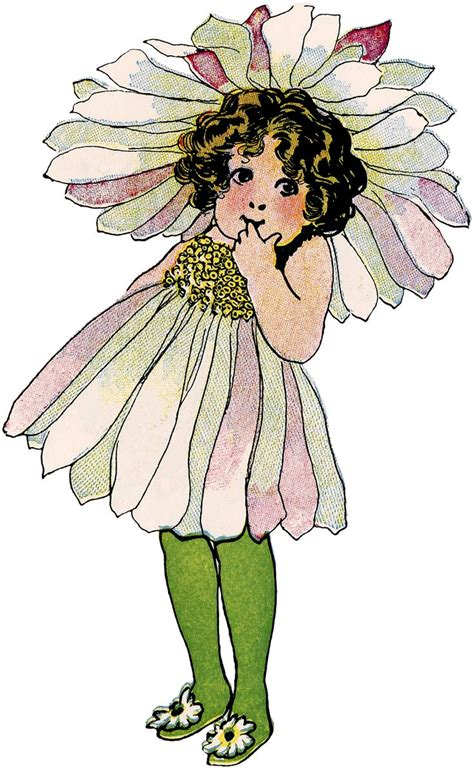 fee clipart vintage flower child image printables graphics