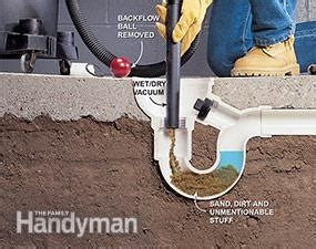 how to unclog a basement drain how to unclog a drain tips from the family handyman