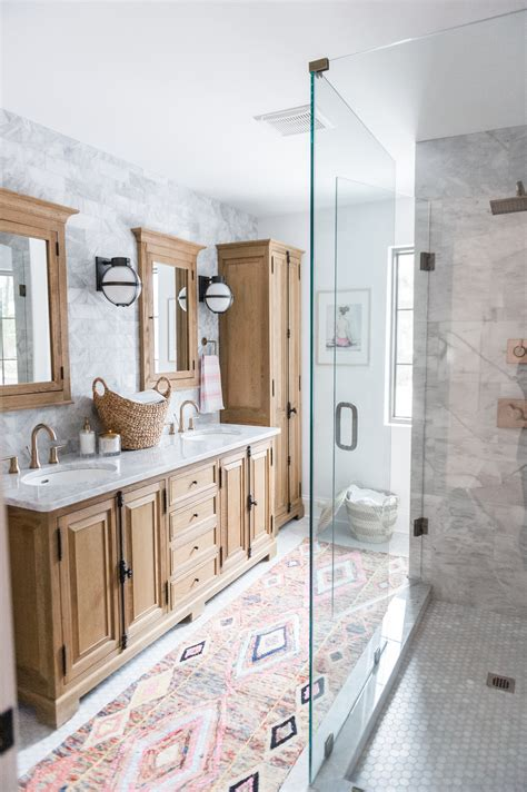 boho chic bathroom modern boho bathroom renovation reveal the leslie style