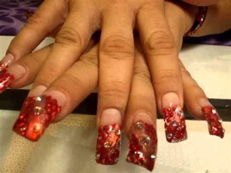 fotos de uñas de acrilico rojas unas rojas pacion youtube