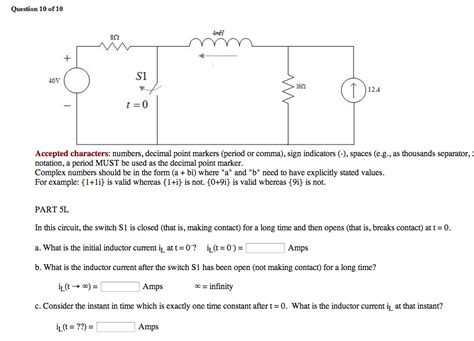 inductor questions and answers what is the initial inductor current and time th chegg