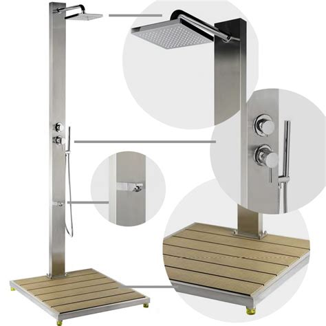 doccia per piscina doccia per piscina steel design con doccetta mobile e